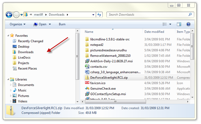 Show Folder Tree in Windows 7 Explorer – merill net – Azure