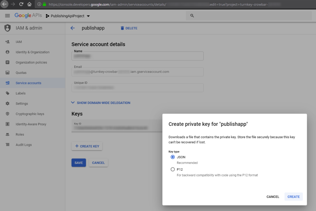 Publishing private enterprise apps to the managed Google